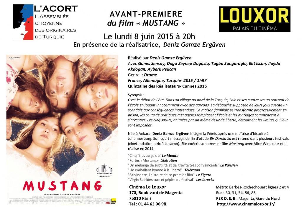 Flyer_Avant_Premiere _MUSTANG_au_Louxor